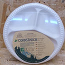 EcoSouLife / CORNSTARCH Divided Plate 20PC (25cm)