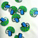 キノコ ココナッツボタン/5個セット グリーン