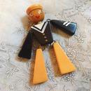 ヴィンテージ ベークライト 人形  水兵さん ブローチ/古着 ビンテージ