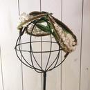 """1950s~ vintage """"hat nip by Danciger"""" ホワイト×グリーン スズラン フラワーモチーフ ヘッドドレス/古着 ビンテージ"""