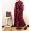 Vintage 1940's PENDLETON ペンドルトン 赤 チェック柄 ウール スーパーロングガウン/古着 ビンテージ