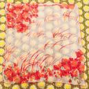vintage vera シースルー 赤 花柄 スカーフ/古着 ビンテージ
