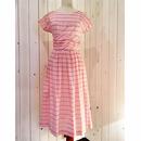 Vintage 50s  ピンク系 ギンガムチェック ワンピース/古着 ビンテージ