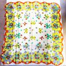 ヴィンテージ 花×リボン柄 スカーフ/古着 ビンテージ