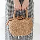 巾着型 ミニ かごバッグ