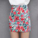 花柄 カラフル タイトスカート