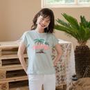 アロハ ヤシの木 刺繍 Tシャツ