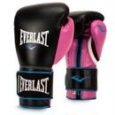 POWERLOCK HOOK & LOOP TRAINING GLOVES WITH SYNTHETIC LEATHER(BLACK/PINK)