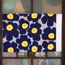 マリメッコ marimekko <Unikko>キャンバス・ファブリック(ブルー)50×78cm 日本未入荷