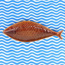 スティグ・リンドベリ Stig Lindberg Fiskfat 魚プレート(ブラウン)