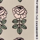 マリメッコ marimekko <Vihkiruusu>ファブリック(ベージュ×ピンク)50cm 日本限定