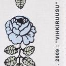 マリメッコ marimekko <Vihkiruusu>ファブリック(ライトブルー)50cm