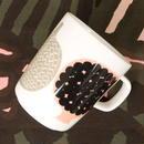 マリメッコ marimekko <Kompotti>マグカップ(ホワイト×グレー)