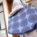 マリメッコ marimekko <Punapippuri>トートバッグ(ブルー)