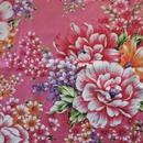 花布生地・艶やか牡丹・ピンク(150巾)