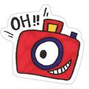 ステッカー カメラ(カラー)