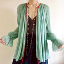 BOUTIQUE silk crepe backribbon  tops TG- 3200 /GREEN