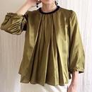BOUTIQUE  silk cotton short tops TG-3303