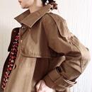 BOUTIQUE      cotton trench coat     /COGNAC BROWN