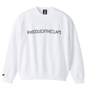 #MIDLLE OF THE CLAPS SWEAT (WHITE)