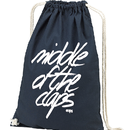 CLAPS SIGN COTTON NAPSACK (BLACK)
