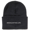 #MIDLLE OF THE CLAPS KNIT CAP(BLACK)