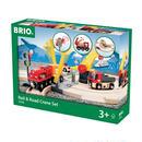 BRIO レール&ロードクレーンセット