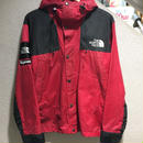 SUPREME×THE NORTH FACE / Waxed Cotton Mountain Parka size : M RED 2010A/W