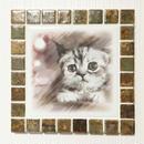 アンティークカラー/ラスティーシェナ(L)◆Tile Picture Frame(L)/Antique Tone/RUSTY SIENNA◆