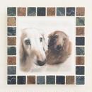 アンティークカラー/ウィザードリーフス(L)◆Tile Picture Frame/Antique Tone/WITHERED LEAVES◆