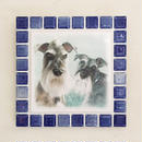 ブライトカラー/インディゴブルー(L)◆Tile Picture Frame(L)/Bright Tone/INDIGO BLUE◆