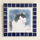 アンティークカラー/ネイビーブルー(L)◆Tile Picture Frame(L)/Antique Tone/NAVY BLUE◆