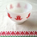 Tulip Cottage cheese Bowl (Red)