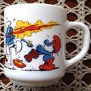 Vintage・Smurf Milkglass Mug '1983