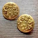 ヴィンテージ・ボタンセット(Gold emblem)
