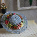 花飾りの麦わら帽子