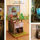ガーデンシンクと籠の寄せ植え