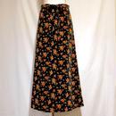 小花柄ベルベットロングスカート(1970s U.K)