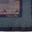 """Christian Dior""ネイビーSILKスカーフ(1970s France)"