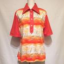 ヨット柄Boy's半袖ポロシャツ(1970s U.K)