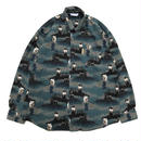 Columbia / L/S B.D. Animal Shirt / Forest / Used