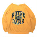 "80s Champion / Sweater ""NOTREDAME"" / Yellow L"