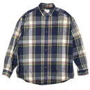 Eddie Bauer / L/S Check B.D. Shirt / Navy / Used