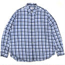 Old J.CREW / L/S B.D.Check Shirt / Blue Check / Used
