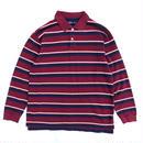 L/S Polo Shirt / Burgundy  / Used