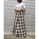 For Ladies /  Check Skirt  / White /  Used