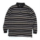 L/S Border Polo Shirt / Brown / Used
