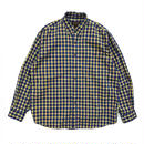 80s Eddie Bauer / L/S Check Shirt /  Blue×Yellow  / Used