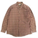 L.L.Bean / L/S B.D.Check Shirt / Brown/Red / Used