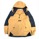 OLD Columbia / Pullover Packable Half Zip Nylon Jacket / Yellow × Black